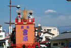 山車と富士山